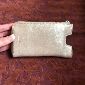 NWOT Fossil metallic mini wallet